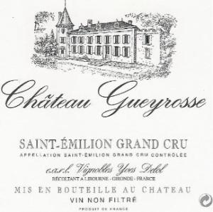 Etiquette d'une bouteille de Château Gueyrosse