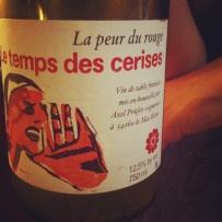 Vin de France - Languedoc - La peur du rouge - Le temps des cerises 2012