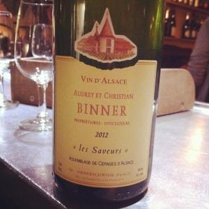 Alsace – Domaine Audrey et Christian Binner, Les Saveurs 2012 - Insta