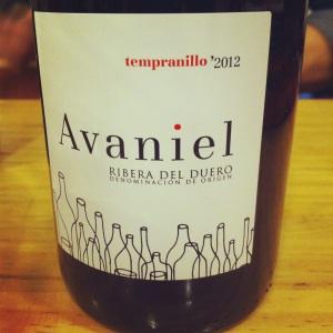 Espagne - Avaniel - Ribera del Duero - 2012 - Insta