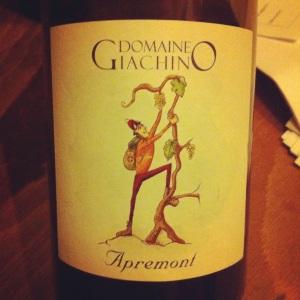 Savoie - Domaine Giachino - Apremont - 2012 - Insta