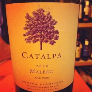 Argentine - Mendoza - Catalpa - Malbec - 2010 - Insta