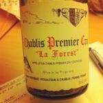 Chablis 1er cru - Domaine Vincent Dauvissat - La Forest - 2008 - Insta