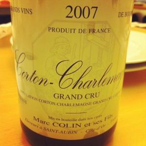 Corton-Charlemagne Grand Cru - Marc Colin & Fils - 2007 - Insta