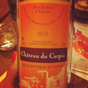 Bordeaux Clairet - Château du Carpia - 2012 - Insta