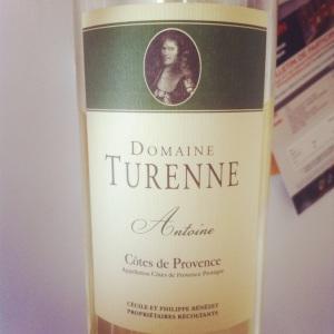Côtes de Provence - Domaine Turenne - Cuvée Antoine (blanc) - 2013 - Insta