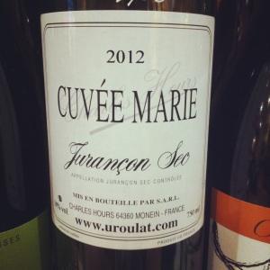 Jurançon sec - Charles Hours - Cuvée Marie - 2012 - Insta