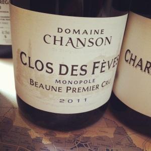 Beaune Premier Cru - Domaine Chanson - Clos des Fèves (monopole) - 2011 - Insta