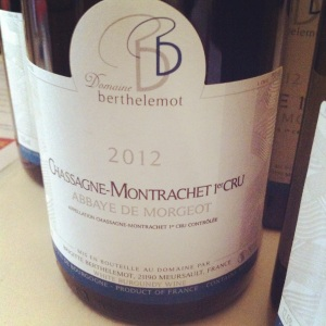 Chassagne-Montrachet - Domaine Berthelomot - Abbaye de Morgeot - 2012 - Insta