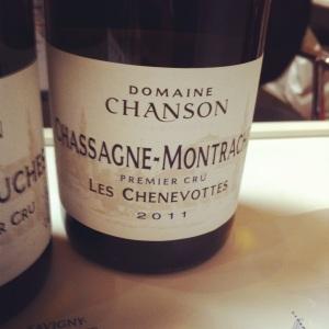 Chassagne-Montrachet Premier Cru - Domaine Chanson - Les Chenevottes - 2011 - Insta