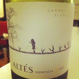 Espagne - Terra Alta - Herencia Altes - Garnatxa Blanca - 2012 - Insta
