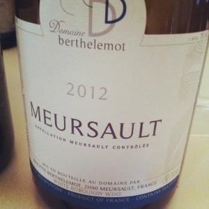 Meursault - Domaine Berthelomot - 2012 - Insta