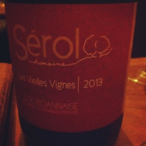 Côte Roannaise - Domaine Sérol - Cuvée Les Vieilles Vignes - 2013 - Insta