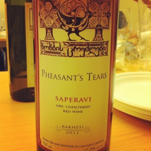 Géorgie - Kakheti - Pheasant's Tears - Saperavi - 2011 (R) - Insta