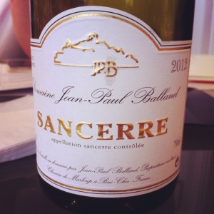 Sancerre - Domaine JP Balland - 2012 - Insta