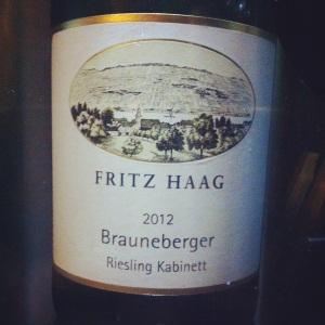 Allemagne - Riesling Kabinette - Fritz Haag - Brauneberger - 2012 - Insta