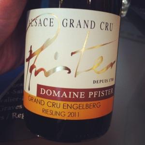 Alsace Grand Cru - Domaine Pfister - Engelberg - 2011 - Insta
