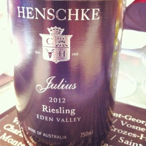 Australie - Eden Valley - Henschke - Cuvée Julius - Riesling - 2012 - Insta