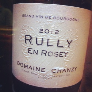 Rully en rosey - Domaine Chanzy - 2012 - Insta