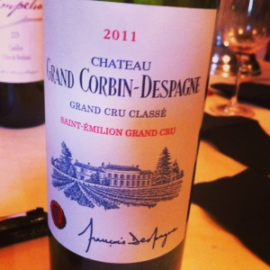 St Emilion Grand Cru - Chateau-Grand Corbin-Despagne - 2011 - Insta