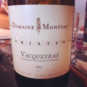 Vacqueyras - Domaine Montvac - 2011 - Insta
