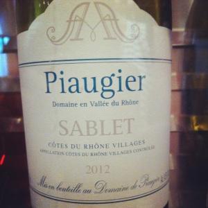 Côtes du Rhone Villages - Sablet - Domaine Piaugier - 2012 (blanc)-Insta