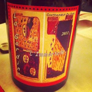 Chateauneuf-du-pape - Chateau La Gardine - Cuvée l'Immortelle - 2011 - rouge - Insta