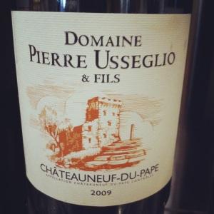 Chateauneuf-du-pape-Domaine_Pierre Usseglio_et_fils- 2009-Insta