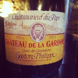 Châteauneuf-du-pape - Château La Gardine - cuvée Gaston-Philippe - 2011 - rouge-Insta