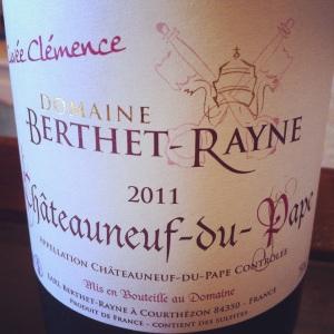 Châteauneuf-du-pape - Domaine Berthet-Rayne -Cuvée clémence - 2011-Insta