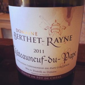 Châteauneuf-du-pape - Domaine Berthet-Rayne -Cuvée vieilli en fût de chêne - 2011 - Insta