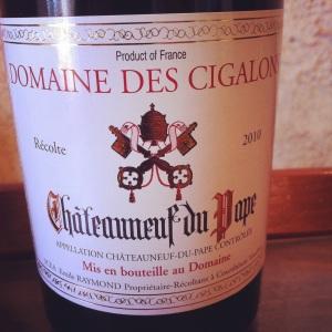 Châteauneuf-du-pape - Domaine des cigalons - 2010 - Insta