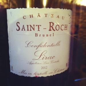 Lirac - Château Saint-Roch - Cuvée Confidentielle - 2012 (rouge)-Insta