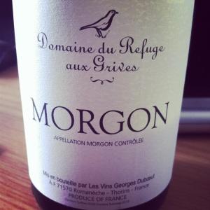 Morgon - Domaine du Refuge aux Grives - 2013 - Rouge - Insta
