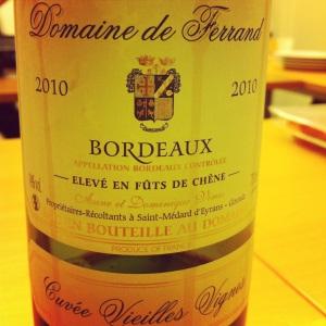 Bordelais - Bordeaux - Domaine de Ferrand - Cuvée VV - 2010 - insta