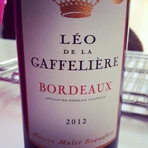 Bordelais-Bordeaux-Leo de la Gaffelière - 2012 - rouge _insta