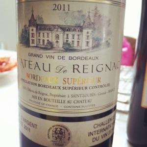 Bordelais - Bordeaux_superieur-Chateau de Reignac - 2011 - insta