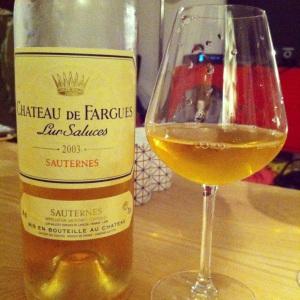 Bordelais – Sauternes – Château de Fargues – 2003-insta