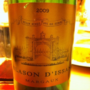 Bordelais - Margaux - Blason d'Issan - 2009 (2nd vin du Château d'Issan)-Insta