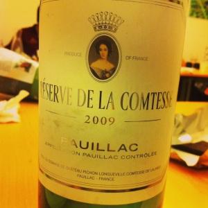 Bordelais - Pauillac - Réserve de la Comtesse - 2009 (2nd vin du Château Pichon Longueville - Comtesse de Lalande)-insta