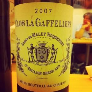 Bordelais - Saint-Emilion - Clos La Gaffelière - 2007 - insta