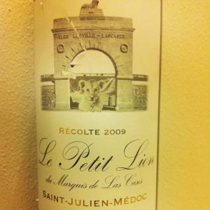 Bordelais - Saint-Julien - Le Petit Lion du Marquis de Las Cases - 2009 (2nd vin du Château Léoville-Las Cases)-insta