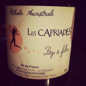 Vallée de la Loire -  VDF - Les Capriades - Piège à filles - Rosé - 2013 - insta