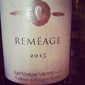 Vallée du Rhône - VDF - Les vins de Vienne - Reméage - 2013 - insta
