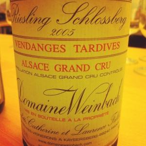Alsace Grand Cru - Riesling - Domaine Weinbach - Schlossberg -Vendanges tardives - 2005