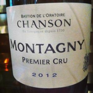 Bourgogne – Montagny 1er Cru – Bastion de l'oratoire Chanson – 2012 - iNSTA