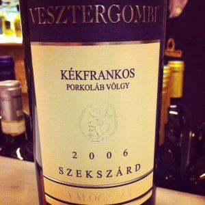 Hongrie-Szekszárd-Porkoláb Valley-Verstergombi Winery-Kékfrankos-2006-rouge-insta