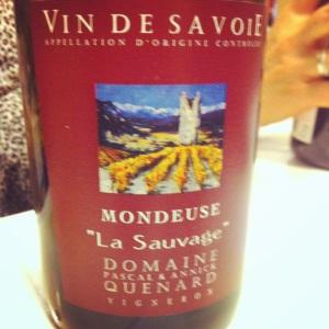 Savoie - Mondeuse - Domaine Pascal et Annick Quenard - La Sauvage - 2013 - Insta