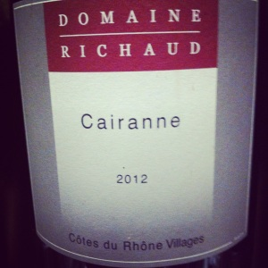 Vallée du Rhone - Cairanne - Domaine Richaud - 2012
