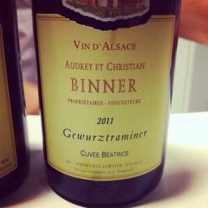 Alsace - Audrey et Christian Binner - Gewurztraminer - Cuvée Béatrice - 2011 - insta